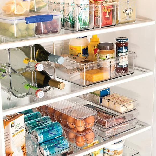Easy Fridge Organization Everything Is Out In The Open And Easy