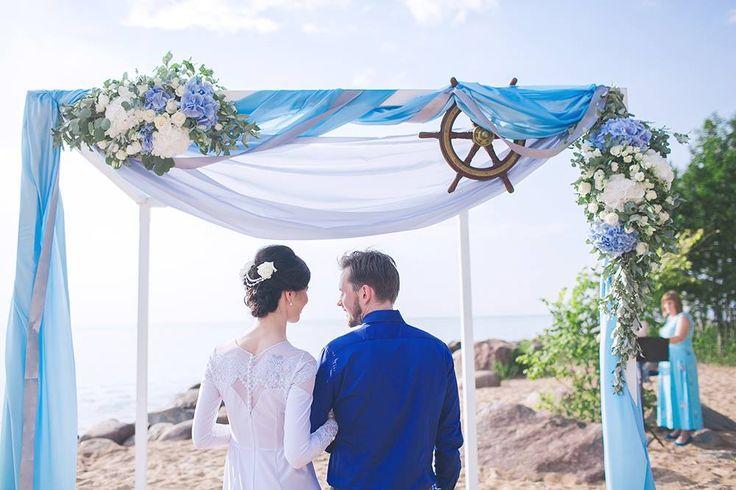 wedding arch, свадебная арка на берегу моря