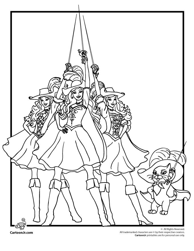 barbie and the three musketeers coloring pages - 184 best images about barbie coloring pages on pinterest