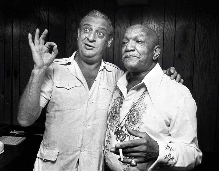 Rodney Dangerfield and Redd Foxx | Rare and beautiful celebrity photos