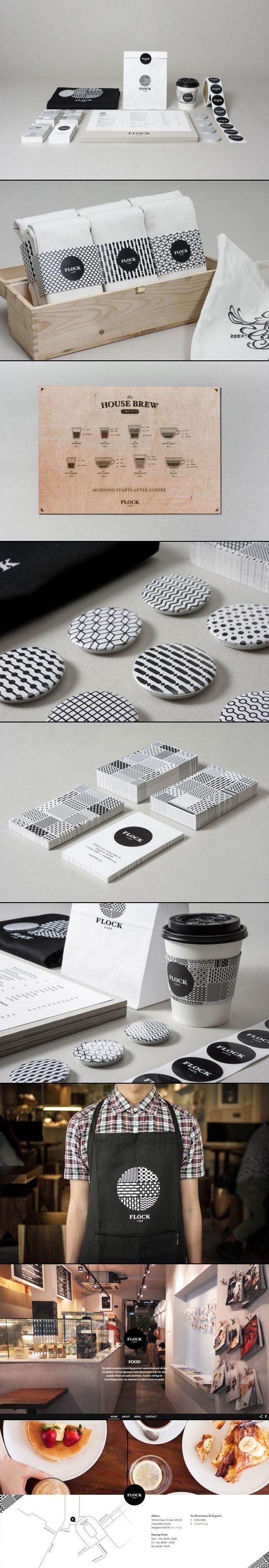 Art Direction and Branding by Kilo Studio for Flock Café #identity #packaging #branding