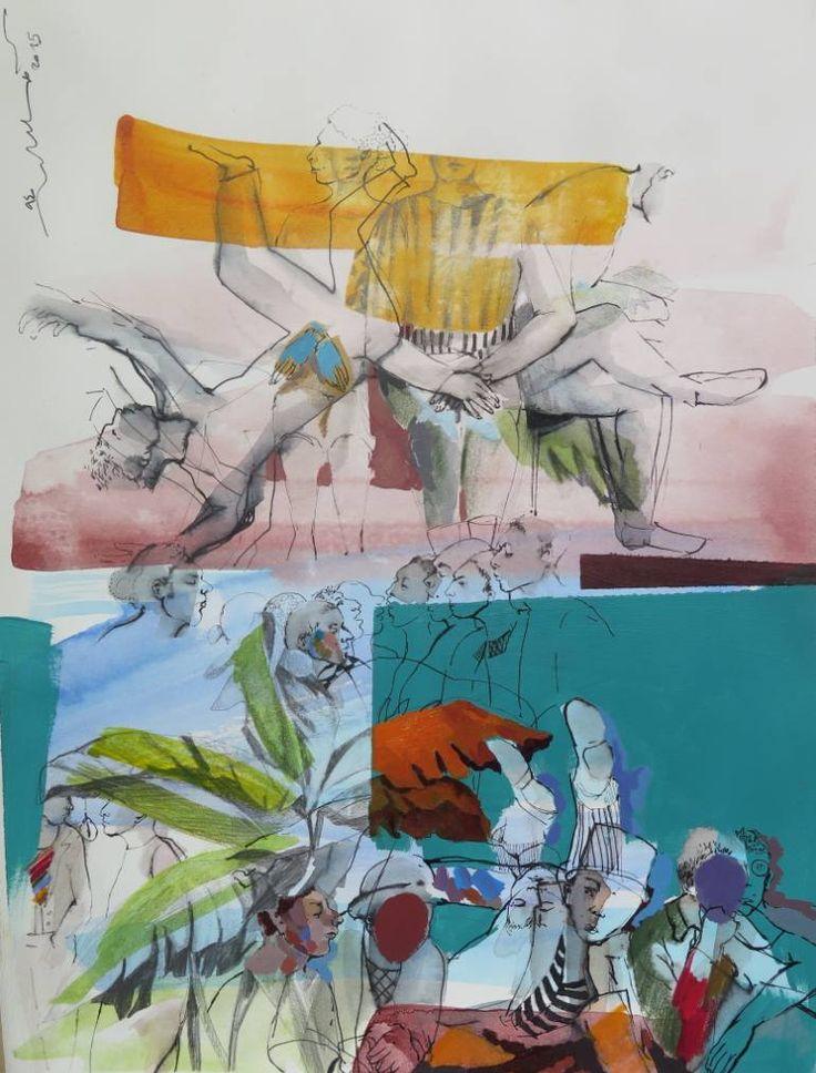 """Saatchi Art Artist Golnaz Afraz; Painting, """"où suis-je?"""" #art"""
