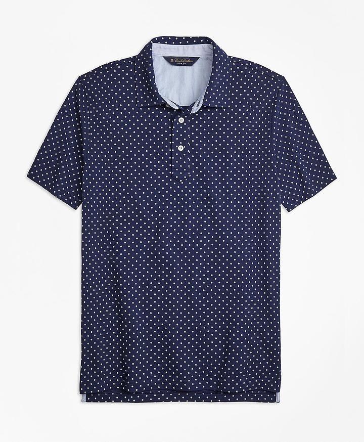 Slim Fit Mini-Floral-Print Pique Polo Shirt