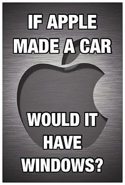 Apple Humor | If Apple Made a Car Would It Have Windows? | From Funny Technology on Google Plus