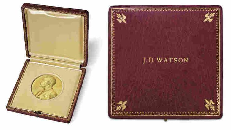 James Watson's Nobel Prize medal sells for $4.8 million at Christies
