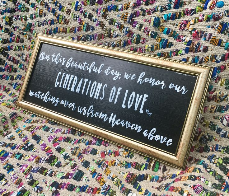 EverInscribed on Etsy | Wedding Memory Table Sign | Generations of Love | Honoring Loved Ones Who Have Passed | Wedding Decor | Calligraphy Signs | Handmade Wedding