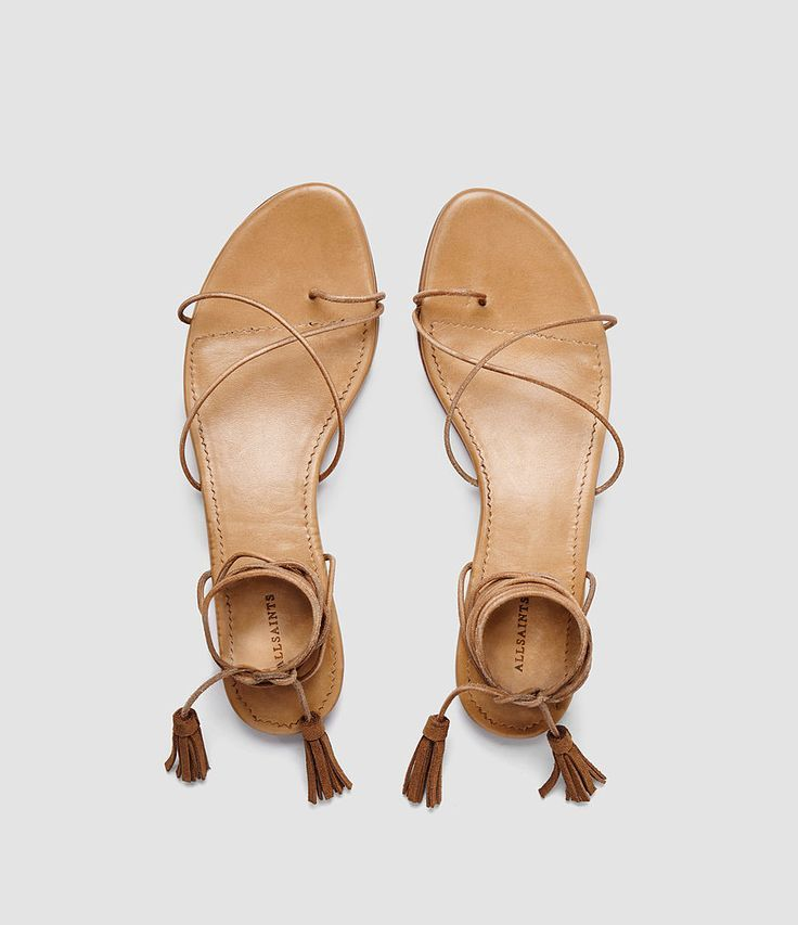 Thin straps. Caramel color. Perfect summer sandals.