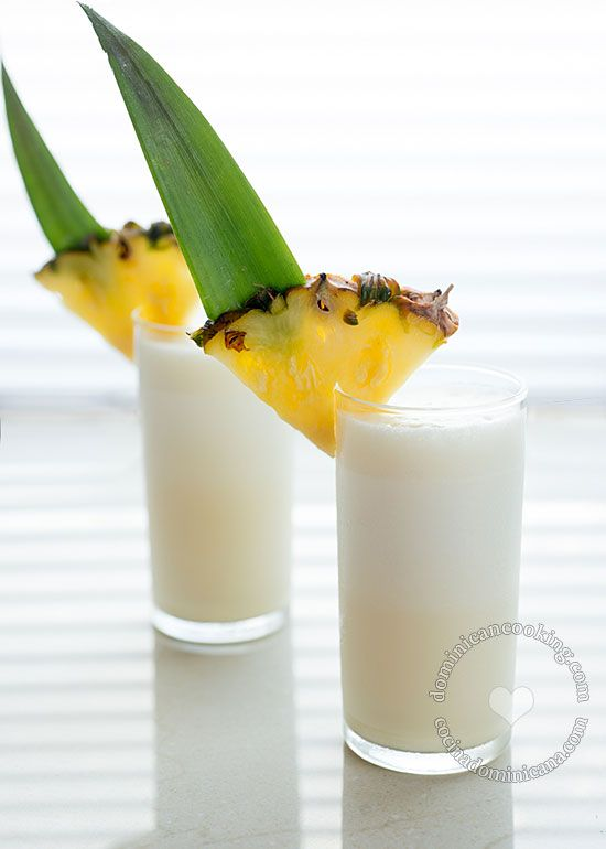 Piña Colada Recipe (Rum, Pineapple and Coconut Cocktail): A drink that suggests tropics, beach, and sunny days under palm trees.