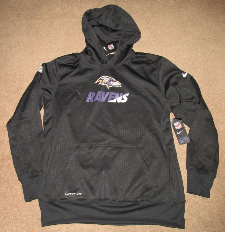 Nike NFL Baltimore Ravens KO Sideline Performance Hoodie Mens XL Black 654697  #NIke