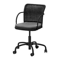 $99 GREGOR Swivel chair - black/Svanby gray, - - IKEA