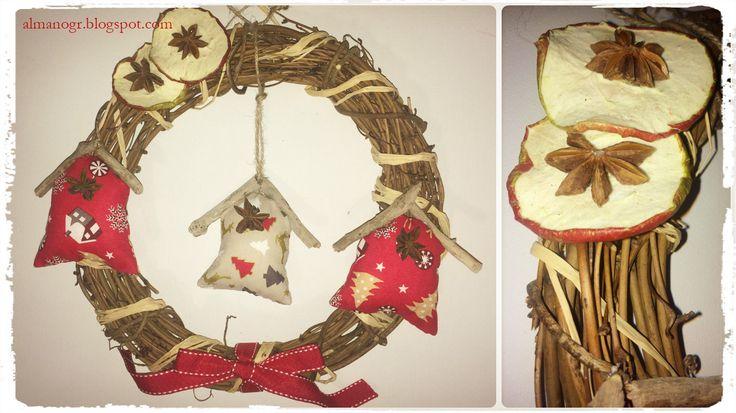 Christmas wreath #christmaswreath #christmasdoordecor #handmadewreath #xmaspirit #xmasdecor #almanogr