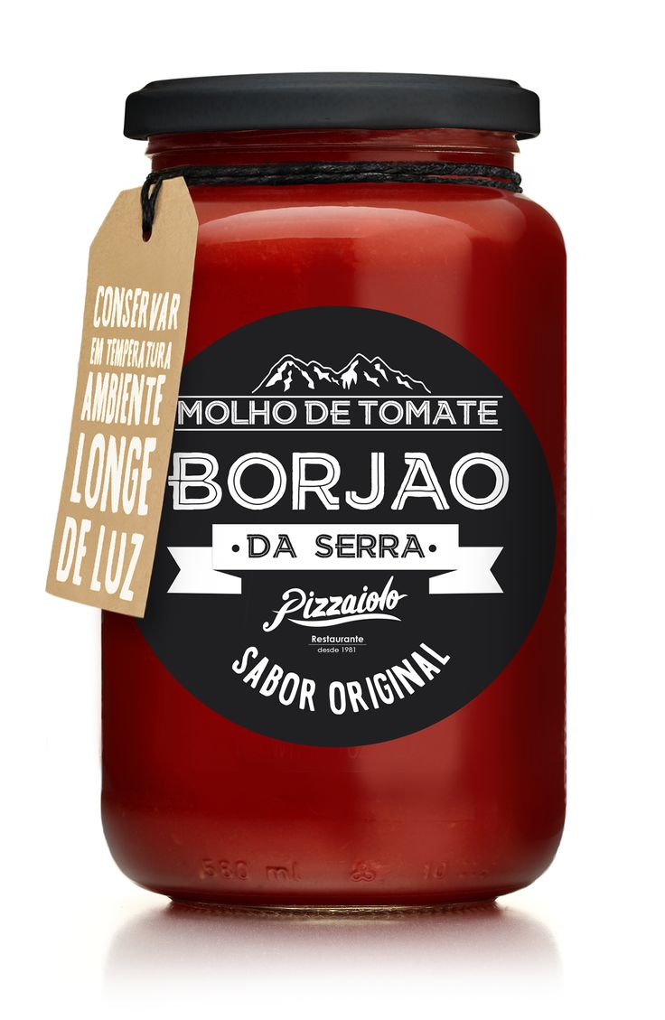 Packaging Design for Tomato Sauce Borjão da Serra by Felipe Longhini. Design de…