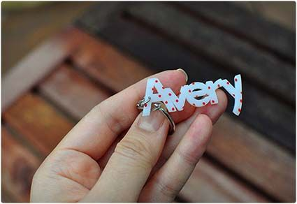 Personalized Shrink Plastic Name Tag