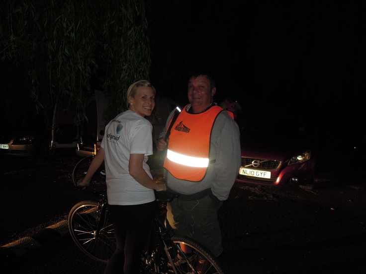 Amy and Nigel, just about to start the 100km Nightrider for Bridge2Aid