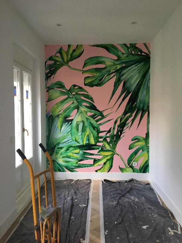 Pink Jungle Wallpaper Wallsauce Uk Pink Jungle Wallpaper Jungle Wallpaper Wall Painting Decor