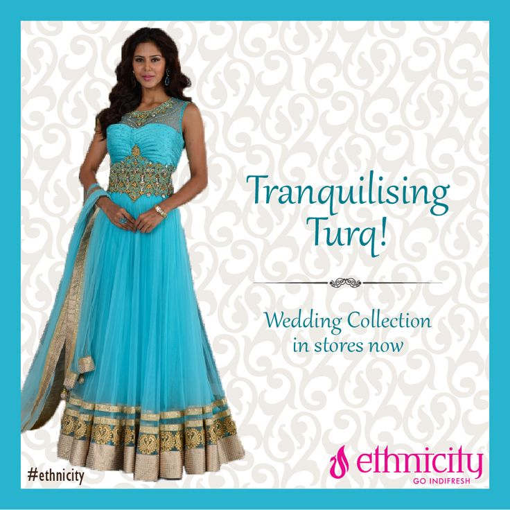 Make your presence tranquilising with our Turq collection. #ethnicity #indifresh #enthnic #ethnicwear #traditional #traditionalwear #wedding #weddingcollection