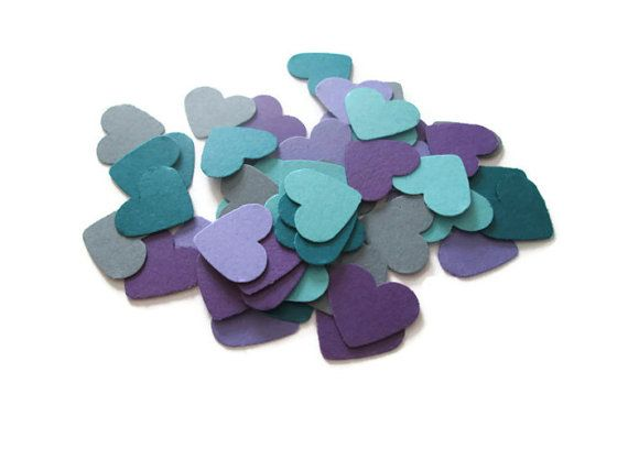 Set of 300 Peacock Heart Confetti - Peacock Weddings, Peacock Bridal Showers,  Confetti Toss, Save the Date envelopes, Wedding Confetti on Etsy, $3.00