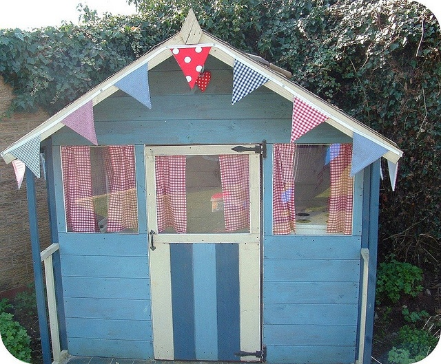 Outside the wendy house