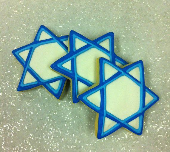 Hanukkah Cookies Favors, Star of David Cookies, Cookies for Chanukah, Jewish Celebration Cookie Favors, Jewish Religion Cookies