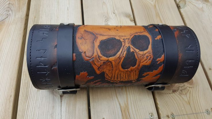 Tool box. Tooled Leather motorcycle seat, Leather craft, motorcycle tooled seats. Custom , Chopper. Dyrvik´s Leather
