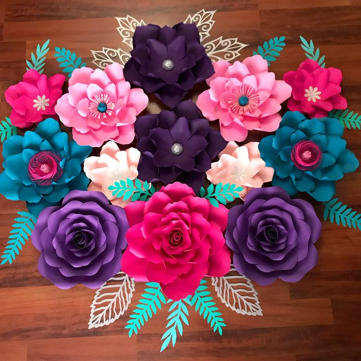 My Favorite Paper Flower Templates to use in filling a massive Paper Flower for special events