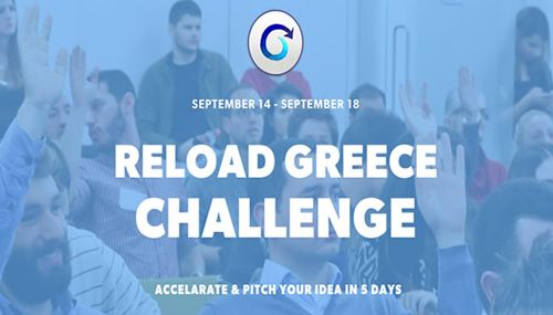 Reload Greece: Five days to flourish Greek entrepreneurship  Reload Greece Challenge 14 – 18 September, 9am – 7pm | @ Frontier Economics