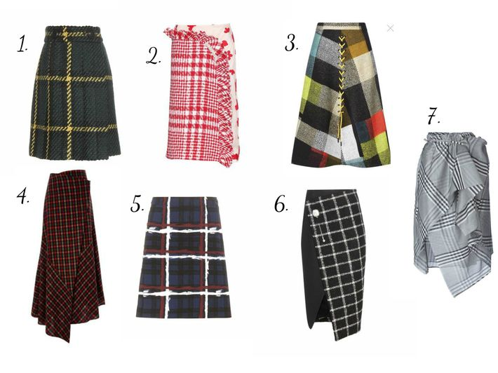 "#Plaid #skirts ""manlike""  have also became favorites of the #season. Designers prefer colors like: black, emerald, grey, burgundy, also eternal sand colored  plait of Burberry and red plaid. Remember, even if you work in an #office and do the same #routine day by day, there's no reason to forget about your #outfit!"