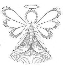 Angel String Art Idea