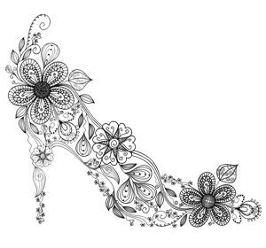 Free Shoe Coloring Pages