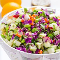 Chopped Asian Zucchini Salad - iFOODreal | Delicious Clean Eating Recipes