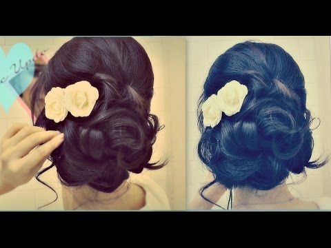 ★ Easy Wedding Updo with Curls | Prom Hairstyles Hair Tutorial - YouTube