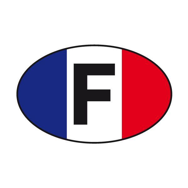 Pegatinas: Óvalo bandera Francia #bandera #pegatina #TeleAdhesivo