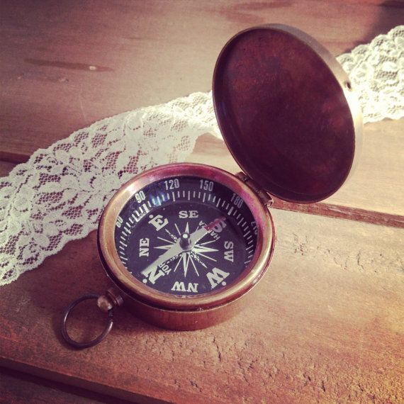 1  Large Compass Pendant Charm with by ingredientsforlovely, $12.99 can engrave