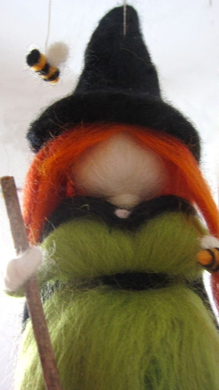 96 best needle felted fairy halloween/witch/fire images on Pinterest