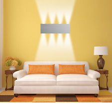 Modern 8W Warm White High Power LED Wall Light Up Down Lamp Sconce Spot Lighting