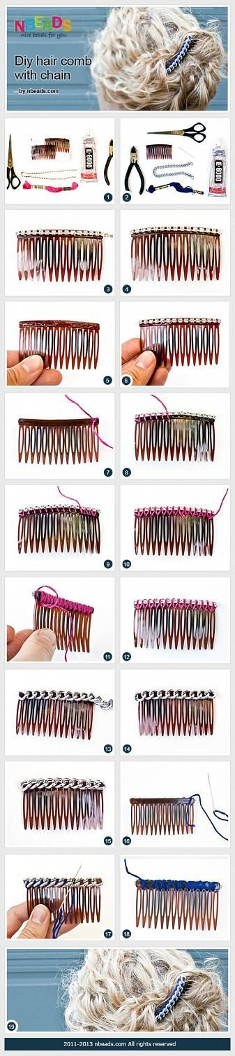DIY Hair Comb with Chain 鈥?Nbeads