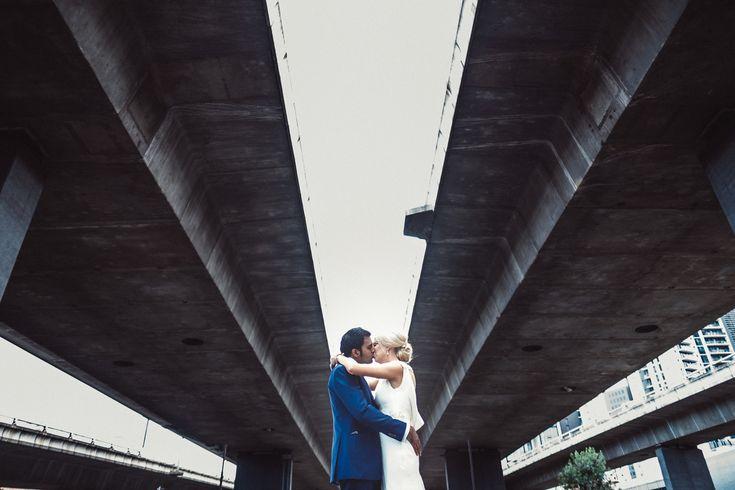 Bold lines - underpass industrial Graffiti industrial wedding Melbourne Australia photographer kiss