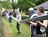 Mit dem Outdoor Modul Bau einer Pipeline wird das Verantwortungsbewusstsein der Teilnehmer für ein gemeinsames Projekt und ein möglichst reibungsloser Ablauf der Prozesse im Team trainiert.