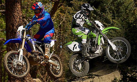 Yamaha Wr450f Vs Kawasaki Klx450r Comparison Review Yamaha
