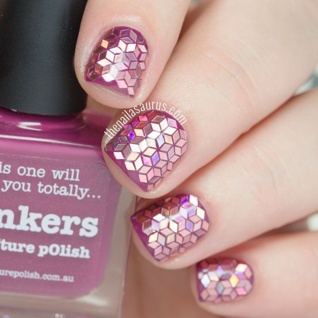 Glitter Placement Nail Art | The Nailasaurus. Patience, patience, patience.