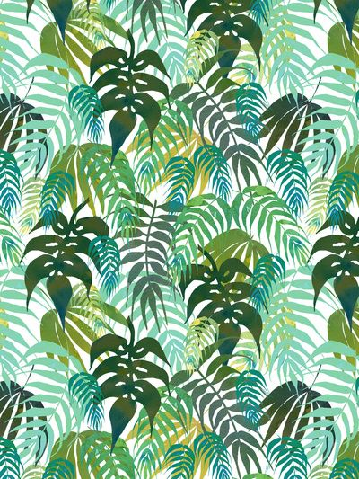 LOST - In the jungle Art Print  by SchatziBrown #tropical #pattern #jungle green