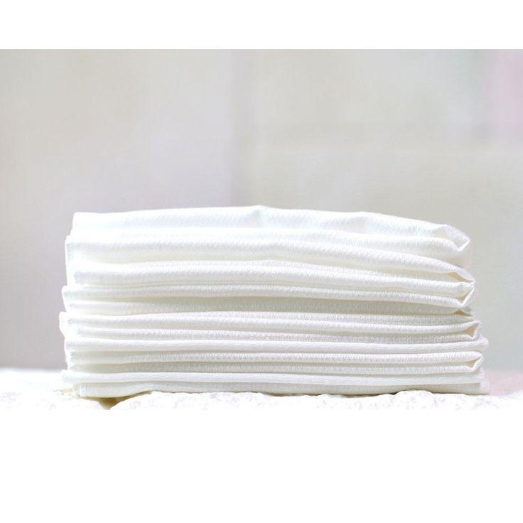 White 100% Cotton Baby Handkerchief Hankie Towel Washcloths 40pcs Made in Korea…