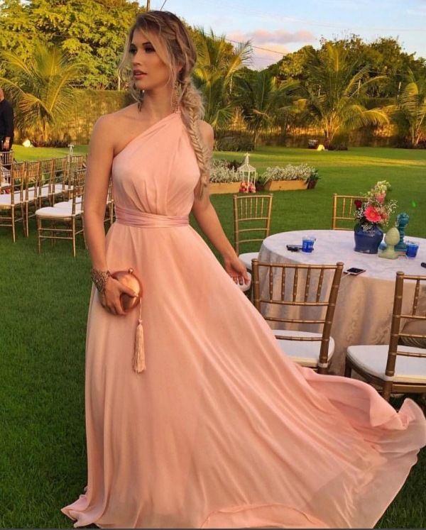 Vestido de festa em tom pastel ou candy colors. Vestido de festa para madrinhas de casamento na praia
