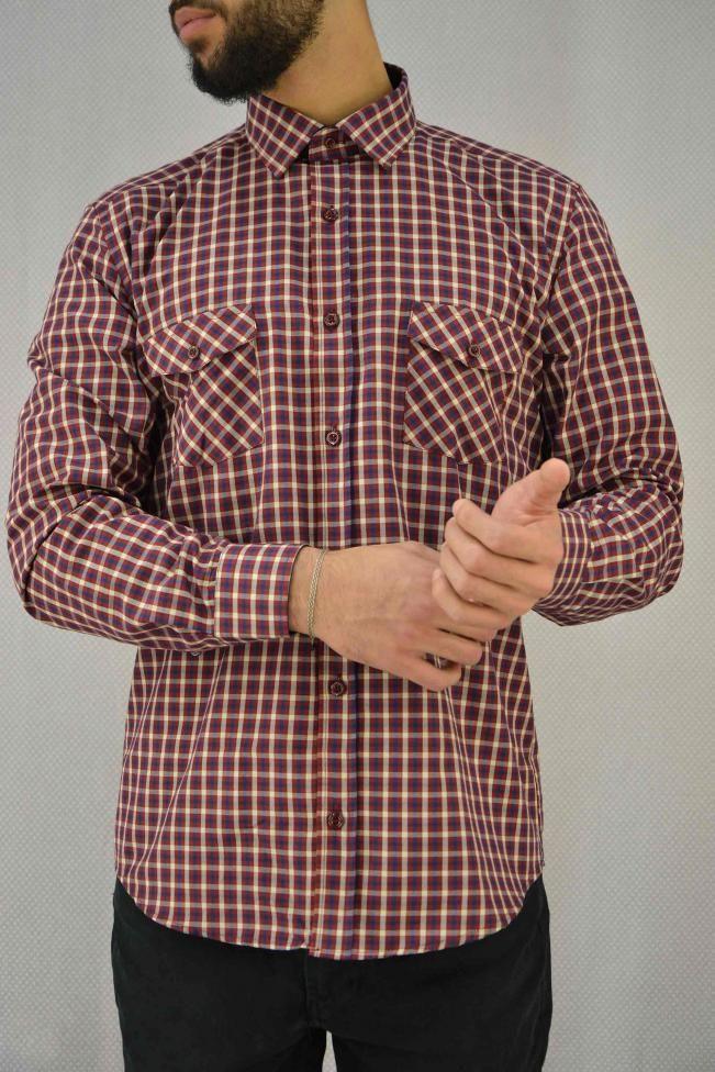 Ανδρικό πουκάμισο καρό  POUK-1657  Πουκάμισα > Άνδρας
