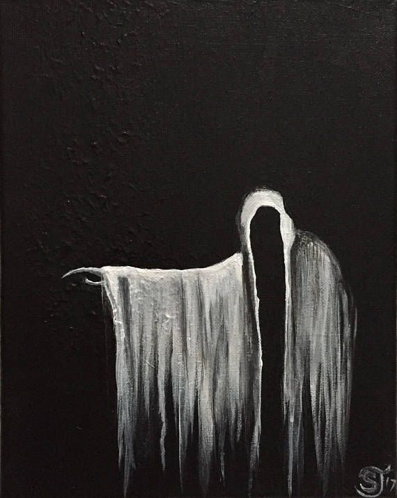 Spooky Ghost Painting