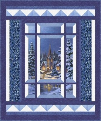Wall hanging or lap and throw for Winter that uses a panel. Modern Window Silent Night Quilt Pattern BS2-473 by Rose Cottage Quilting - Barb Sackel.  Check out our panel quilt patterns. https://www.pinterest.com/quiltwomancom/panel-quilts/  Subscribe to our mailing list for updates on new patterns and sales! https://visitor.constantcontact.com/manage/optin?v=001nInsvTYVCuDEFMt6NnF5AZm5OdNtzij2ua4k-qgFIzX6B22GyGeBWSrTG2Of_W0RDlB-QaVpNqTrhbz9y39jbLrD2dlEPkoHf_P3E6E5nBNVQNAEUs-xVA%3D%3D