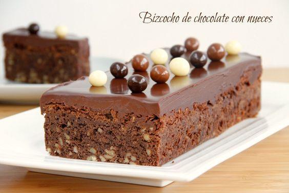 Bizcocho de chocolate con nueces. Thermomix