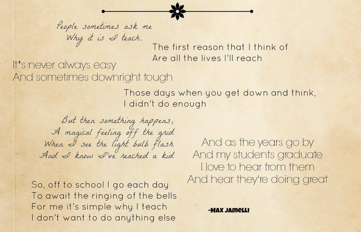 6 Originalgedichte: Für Lehrer, von Lehrern