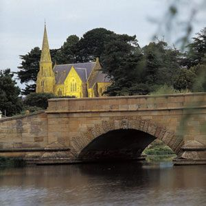 Riverside scene Tasmania