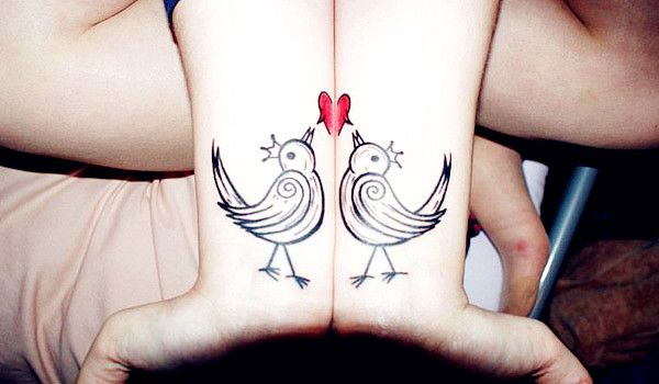 Love Bird Tattoo. Cute could be great for sisters or best friends